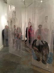 "Ann Kozeliski's ""Portraits in Passing"" on display at 621 Gallery."