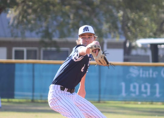 Maclay freshman Ryker Chavis was in full command of his pitches vs. JPII on March 6. He recorded a perfect game in the 5-0 victory.