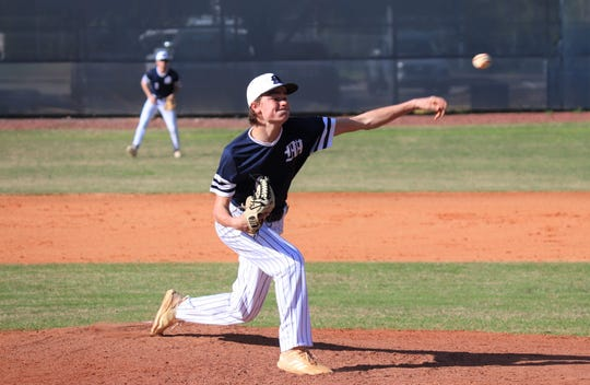 Maclay freshman Ryker Chavis tossed a perfect game in a 5-0 win over JPII on March 6, 2020.