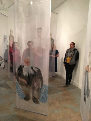 """Ann Kozeliski's """"Portraits in Passing"""" on display at 621 Gallery in Railroad Square."""