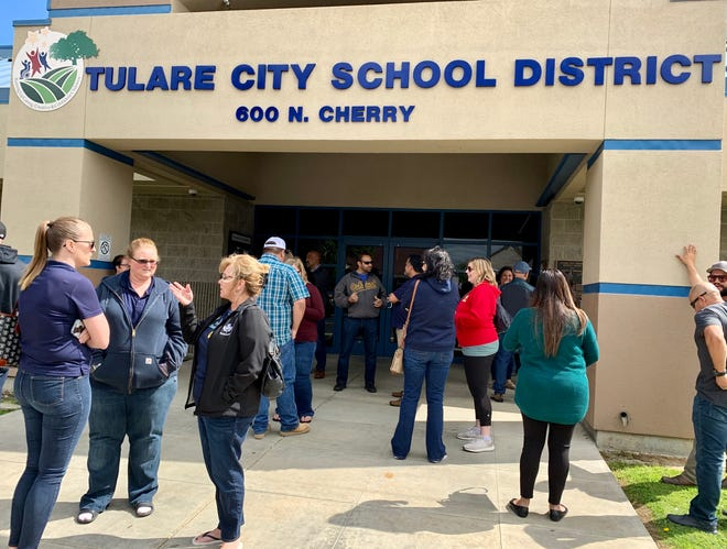 Tulare City School District announces all campuses will close until April 13 at an emergency board meeting on March 15, 2020.