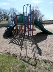 Playground equipment sits idle at Five Islands Park in New Rochelle, March 15, 2020.