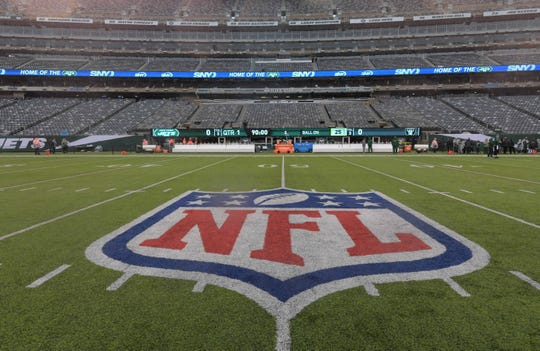 General view of the NFL logo.