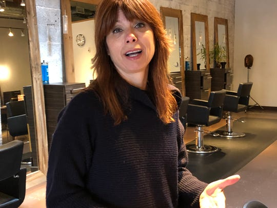 Christine Zilinski, owner of Salon Concrete in Red Bank and Holmdel, closed her store indefinitely in response to the coronavirus outbreak.