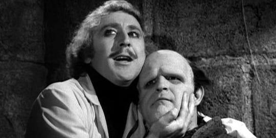 """Gene Wilder (left) and Peter Boyle in """"Young Frankenstein."""""""