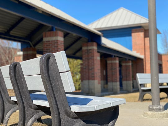 Benches and walkways are empty as Vermont schools close because of coronavirus threat. Shelburne Community School closed March 16 early because of a presumptive positive COVID-19 case in the school population.