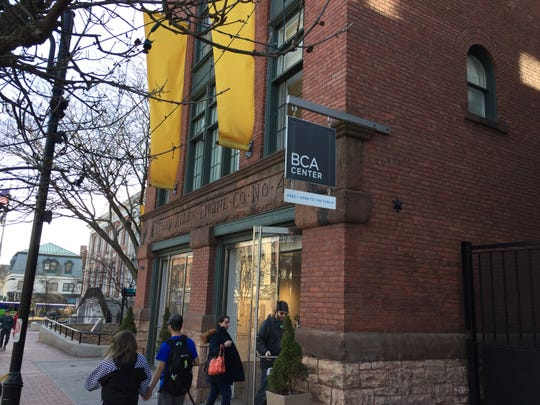 Visitors enter the BCA Center on Church Street on March 14, 2020. Burlington City Arts kept the gallery open until Monday, March 16 when it canceled public events.