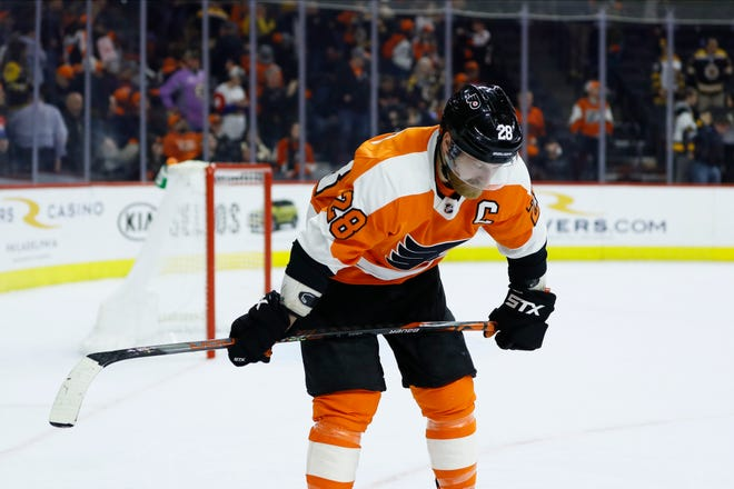 Claude Giroux and the Flyers were on the fast track to home ice advantage in the playoffs. Now it's unclear if the reason will resume.