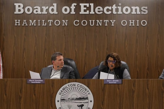 The Hamilton County Board of Elections holds a meeting on Monday, March 16, 2020 to discuss if the the upcoming election will be held Tuesday.