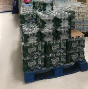 Water was a much sought after item by shoppers at ShopRite of East Brunswick on Monday.