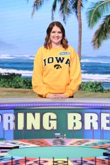 "Tallie Kerr during the ""College Week Spring Break"" episode of ""Wheel of Fortune."""