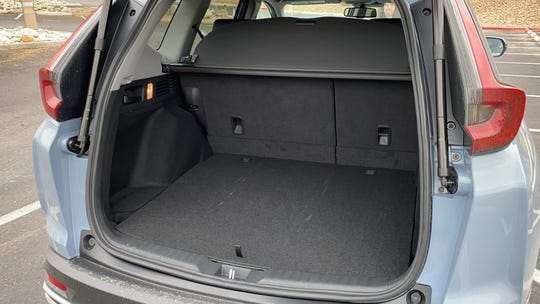 The Honda CR-V hybrid has a roomy luggage compartment