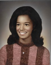 Carmen Harlan anchored WDIV-Channel 4, the NBC affiliate in Detroit, for 38 years. Here she is pictured at graduation from Mumford High School, Class of 1971.
