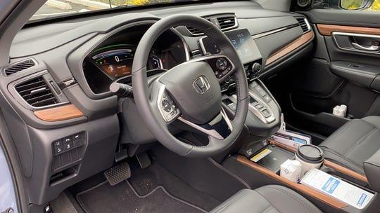 Front seat of 2020 Honda CR-V Touring hybrid
