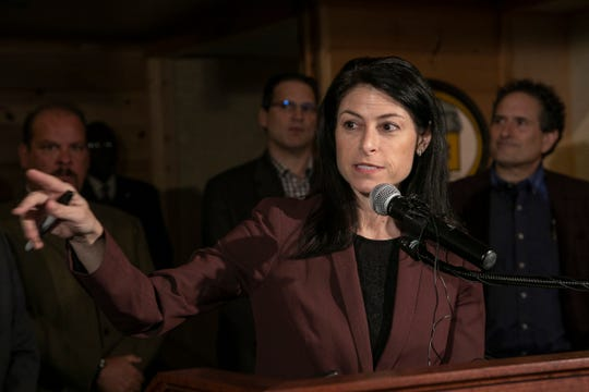 Michigan Attorney General Dana Nessel holds a press conference at M-Brew in Ferndale  Monday, March, 16, 2020 to clarify new rules put forth to protect the community from the spread of Coronavirus.