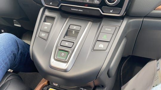 A push button shifter is new for the 2020 Honda CR-V hybrid