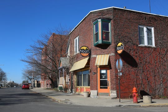 Mudgie's Deli in Corktown on Sunday, March 15, 2020. The Detroit St. Patrick's Day Parade, which usually stages right outside the restaurant, was supposed to be held on this date but canceled to discourage the spread of the novel coronavirus.