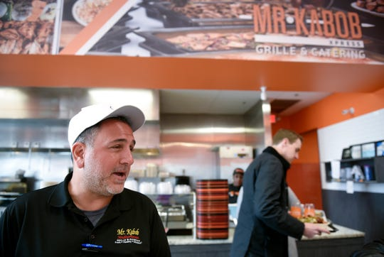 Mr. Kabob owner Ouse Gulli speaks about closing his doors to dine-in business because of the coronavirus pandemic on Monday.