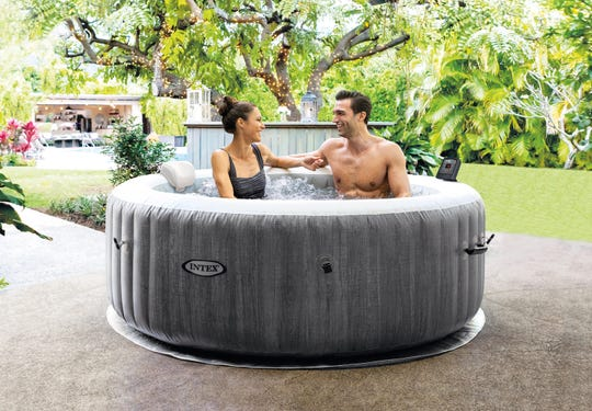 The Intex Purespa Greywood Deluxe 2 is portable and affordable.
