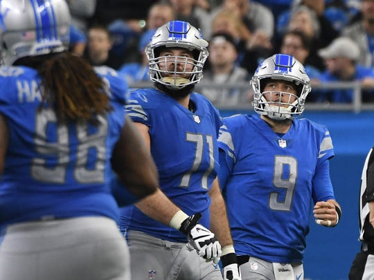 Former Lions offensive tackle Rick Wagner (71) reportedly has agreed to terms with the Green Bay Packers.