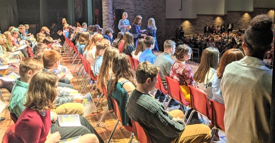 Port Clinton Middle School had its annual National Junior Honor Society induction ceremony at the PCHS Performing Arts Center.