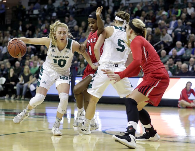 UWGB guard Anna Brecht has left the school after three seasons.