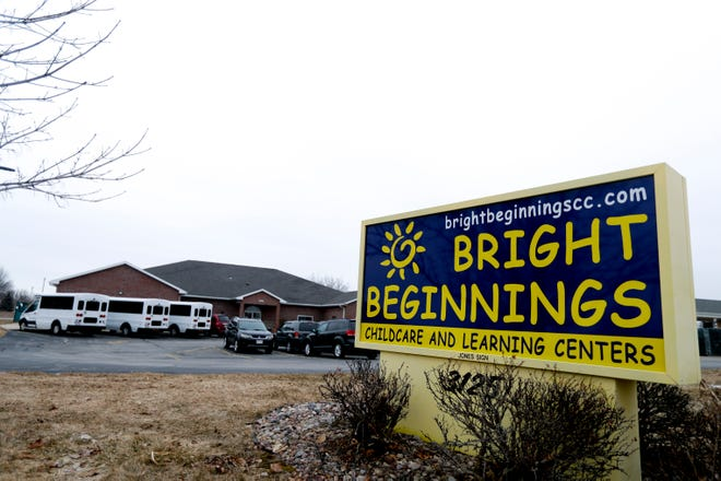 Scenes of Bright Beginnings on Monday, March 16, 2020, in Green Bay, Wis. Like child care facilities across Wisconsin, Bright Beginnings remains open because child care is considered by the state as an essential service to the community. Ebony Cox/USA TODAY NETWORK-Wisconsin
