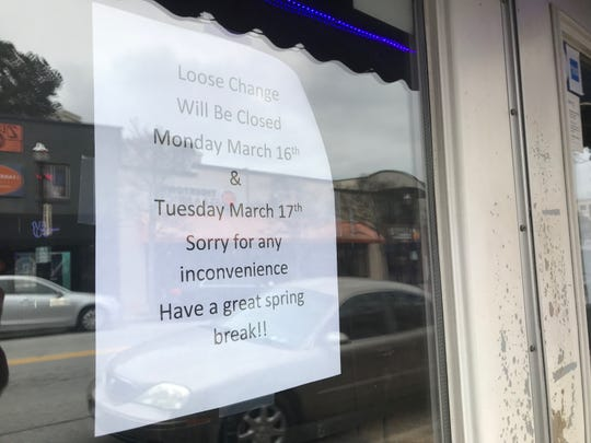 Loose Change Bar and Grill in Clemson is closed for the week, but not because of the coronavirus pandemic -- it's Clemson University's spring break.
