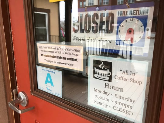 All In Coffee Shop in Clemson is closed for the week, but not because of the coronavirus pandemic -- it's Clemson University's spring break.