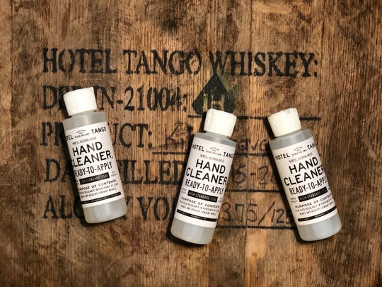 Hotel Tango Distillery is working to create its own hand cleaner at its production facility in Tinker House, 1101 E. 16th St., to fight the coronavirus, Monday, March 16, 2020.