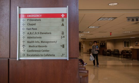 The Jackson-Madison County General Hospital in Jackson, Tenn., Thursday, March 12, 2020