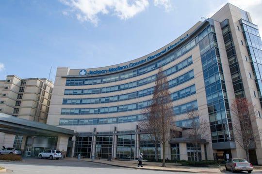 The Jackson-Madison County General Hospital in Jackson, Tenn., Thursday, March 12, 2020