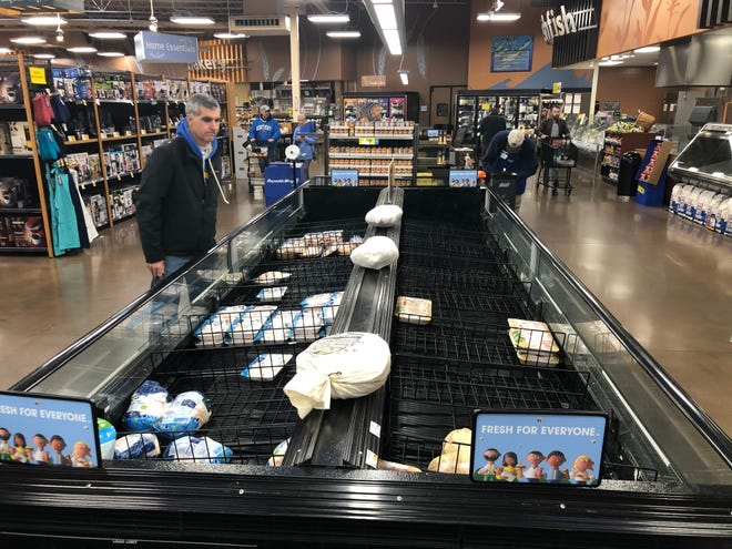 Shoppers at this Kroger in Louisville's east end were left with slim supplies of fresh meat over the weekend.