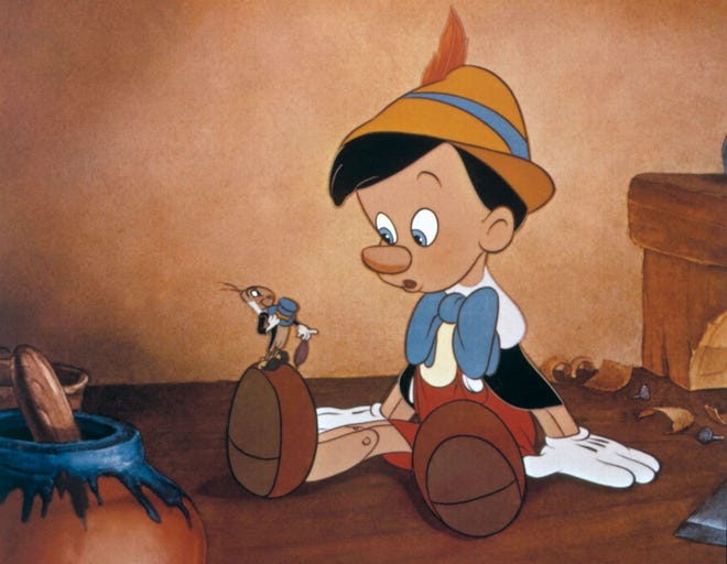 """Dickie Jones voiced the title character in Disney's """"Pinocchio,"""" released 80 years ago this year."""