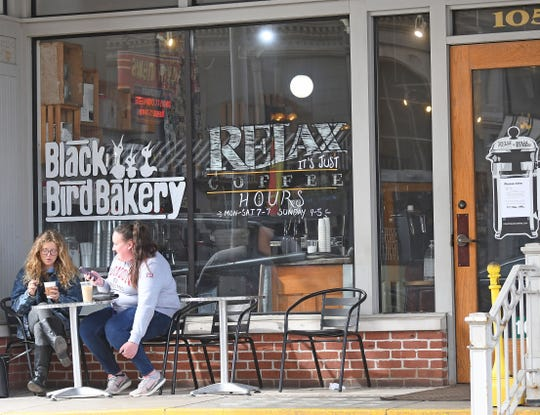 Relax, It's Just Coffee, has closed its seating area to customers, but carryout drinks and goods from Blackbird Backery will continue.