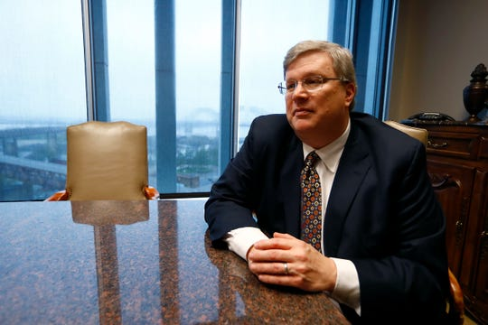 Memphis Mayor Jim Strickland addresses coronavirus concerns and potential city-wide mandates from City Hall on Monday, March 16, 2020.