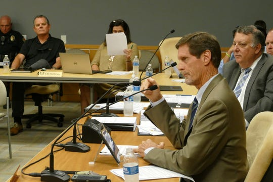Marco Island City Manager Mike McNees speaks during City Council meeting on March 16, 2020.