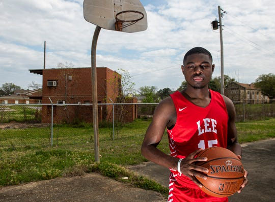 All-Metro athlete Lee's Duke Miles poses for a portrait in Montgomery, Ala., on Monday, March 16, 2020.