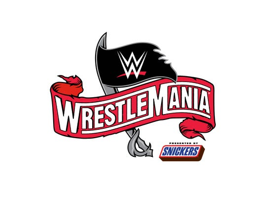 """WrestleMania 36"" logo"