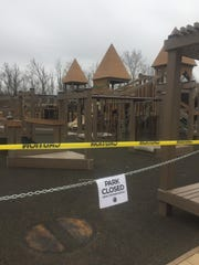 The Granville Park District closes several parks and taped off common play areas on March 16 in response to COVID-19.