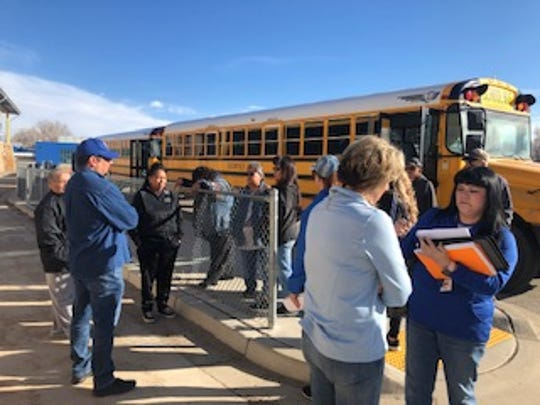 The Bloomfield School District distributed meals to students in remote areas March 16 by taking them to bus stops.