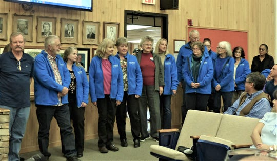 Volunteers are the backbone of the village, Mayor Lynn Crawford said after reading a proclamation in their honor.
