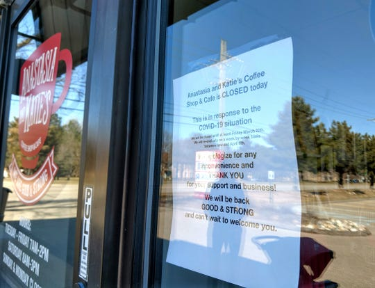 Anastasia and Katie's Coffee Shop in Livonia closed Friday, March 13, in response to the COVID-19 outbreak.