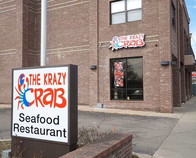 The Krazy Crab restaurant at 32821 Grand River Ave. in Farmington.