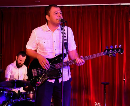 Vincent Gonzalez (front) and Sean Poe (rear) of Avenida Music performing at The Copa in Palm Springs in December 2018. Avenida Music has had four shows cancelled as of Monday due to the shutdown of music venues and large gatherings proposed by Gov. Gavin Newsom.