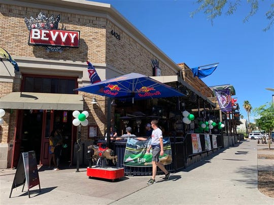 People still visited Scottdale's entertainment district on March 15 despite official advice to stay home in attempts to slow the spread of the disease.