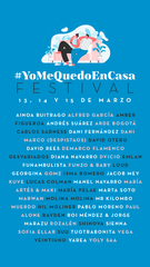 Cantantes españoles, ofrecen concierto #YoMeQuedoEnCasa a través de Instagram.