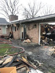 A one-story house on New Franklin Road, Marion, was destroyed by fire early Sunday.