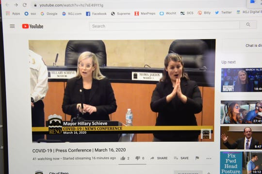 Reno Mayor Hillary Schieve holds a virtual press conference asking for all bars and restuarant to close due to the COVIS-19.