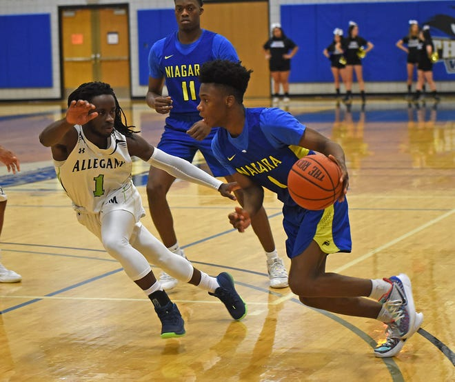 Greece Athena graduate Nigel Scantlebury averaged 14.3 points per game at Niagara County Community College this season. Scantlebury has earned a Division I scholarship to Central Connecticut State.
